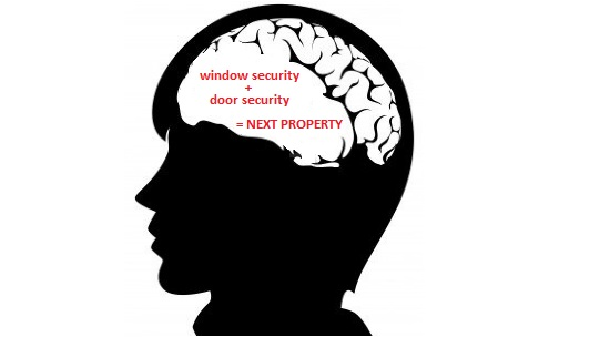 a message to raise the concern to property owners of how burglars think