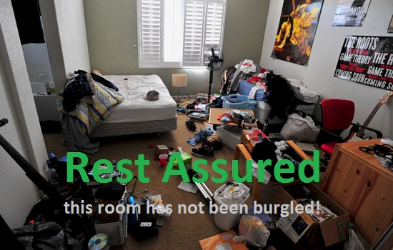 room which is so messy that it looks like it has just been burgled