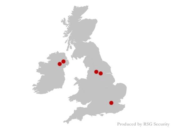 UK map showing UK's worst burglary hotspots