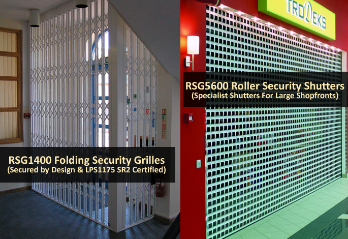 security shutters and grilles protecting UK businesses