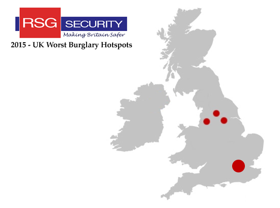uk worst burglary hostspots in 2015