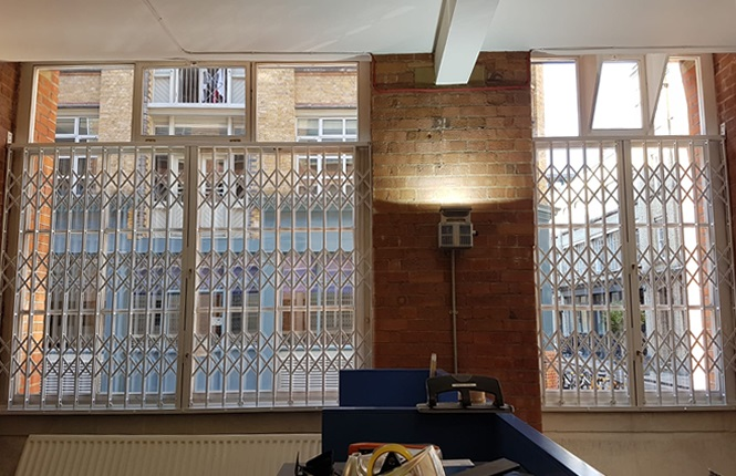 RSG1000 security window grilles fitted to an award winning tv company in Shoreditch, London.