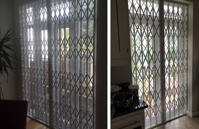 RSG1000 patio door grilles securing homes in SW London.