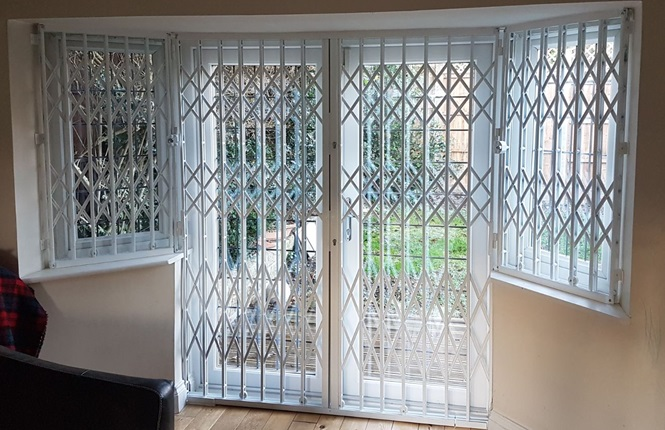 RSG1000 patio door security grilles securing family home in Barnet.