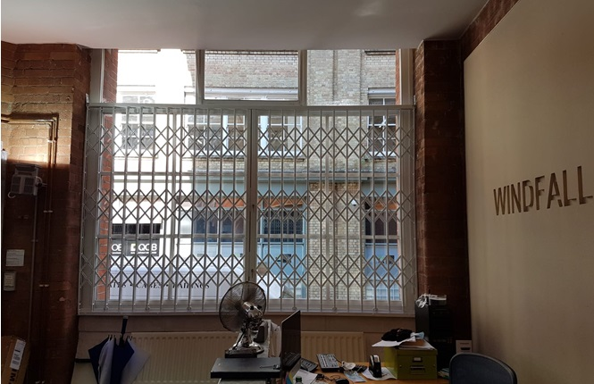 RSG1000 high security window grilles providing security to an award winning tv company in Shoreditch, Central London.