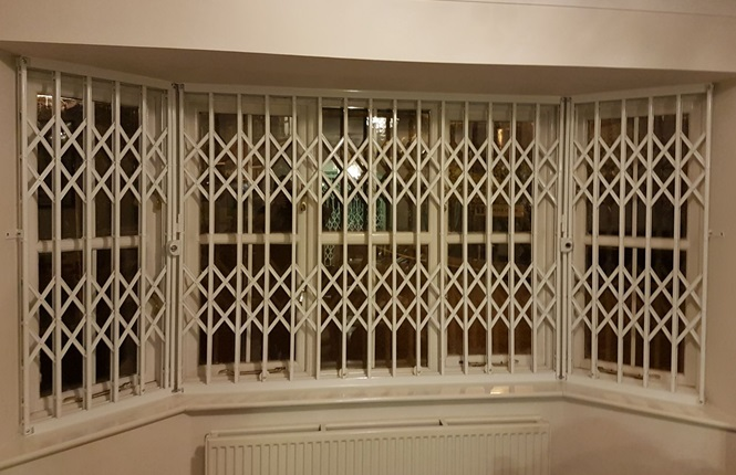 RSG1000 retractable security grilles providing security to a residential property in West Hendon.