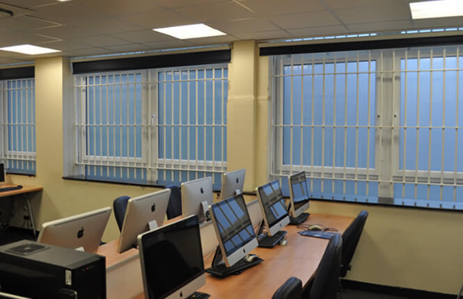 RSG2000 window bars securing offices in Camden, London.