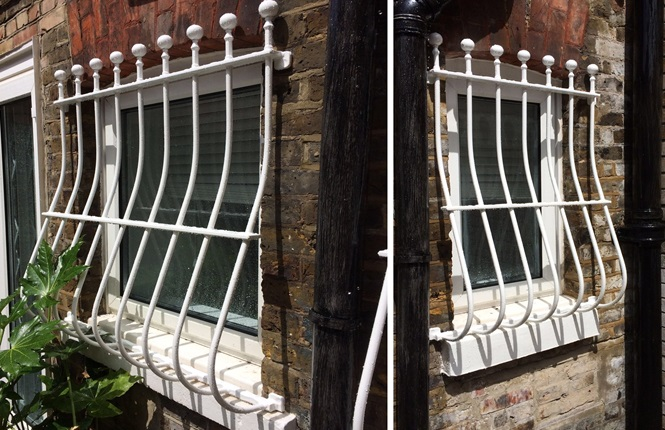 RSG2000 security window bars fitted to a domestic property in West Hampstead, NW London.