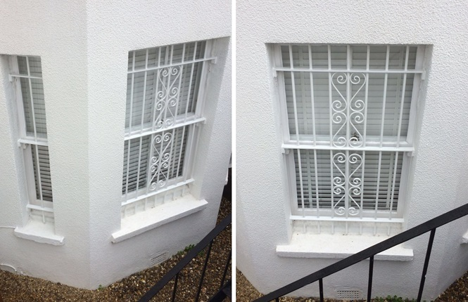 RSG2000 security window bars installed on a residence in NW London.