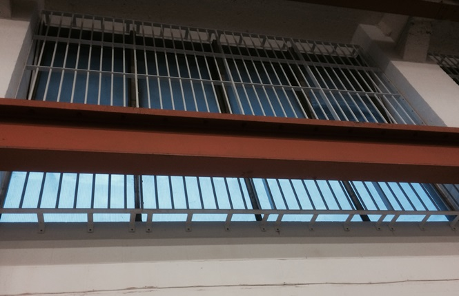 RSG2000 bars fitted on a warehouse in South London.