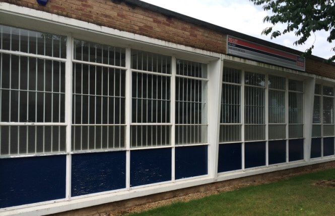 RSG2000 security bars protecting warehouse in Essex.