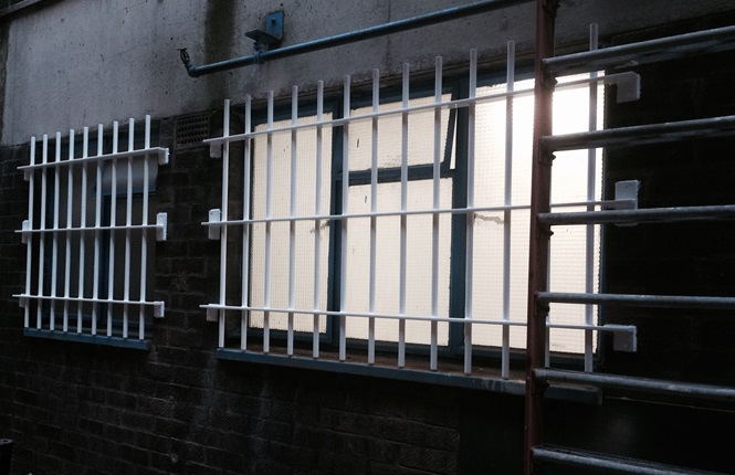 RSG2000 window security bars fitted to a warehouse in London.