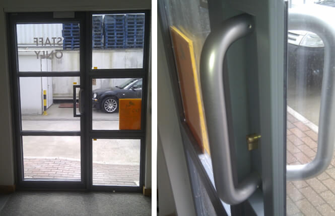 RSG2400 security screens on shopfront in London.