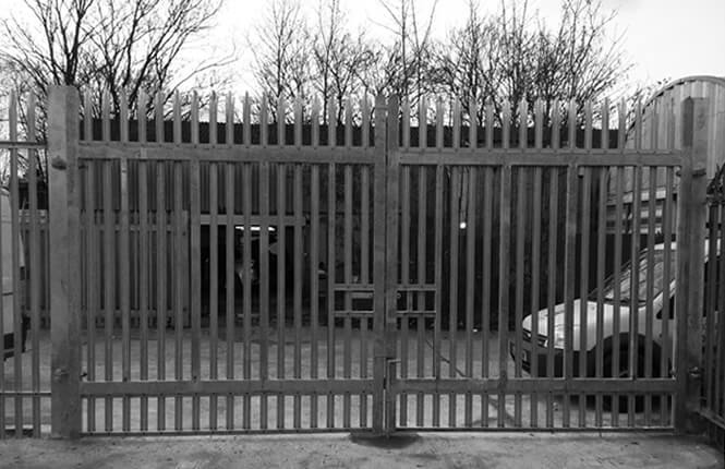 RSG3600 palisade security gates on an industrial plant in Morden, South London.