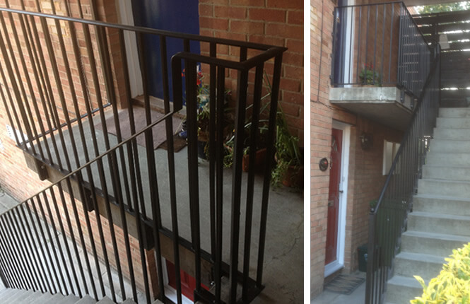 RSG4400 stairs railings on domestic property in South London.