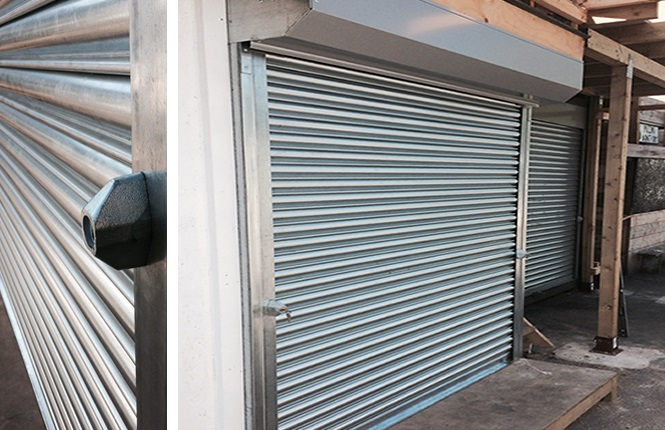 RSG5000 commercial shutter fitted to commercial outlet in Hackney.