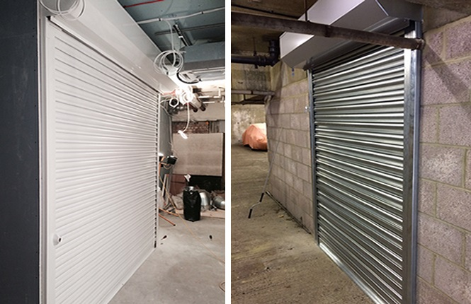 RSG5000 commercial shutters fitted to a building in North West London.