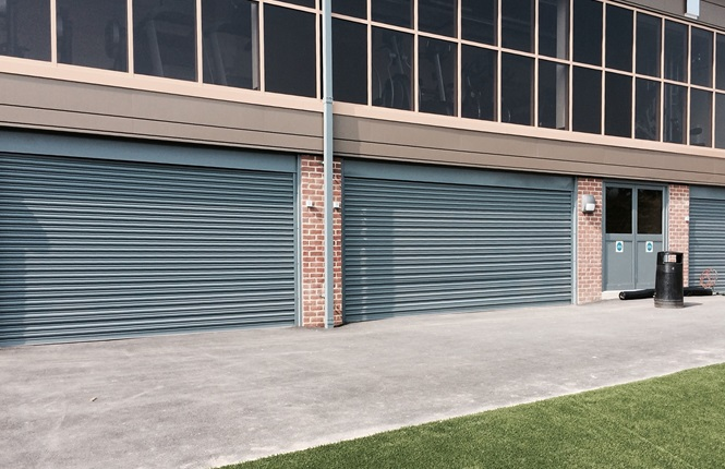 RSG5000 galvanised security shutters providing security to an industrial unit in North London.