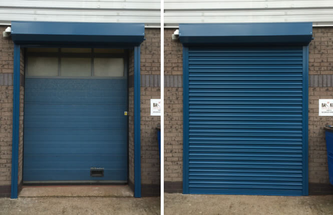 RSG5000 industrial roller shutter fitted securing the rear of an industrial store in Wembley.