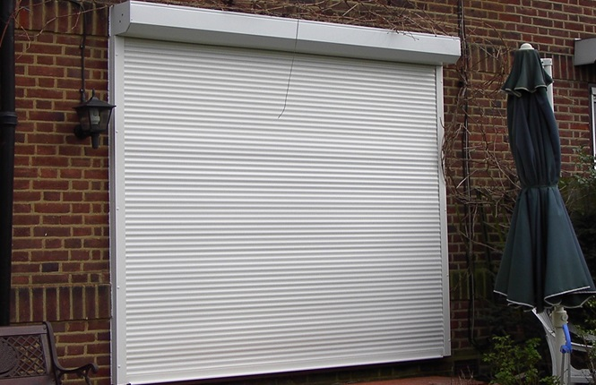 RSG5100 security roller shutter fitted to a residential area in Debden.