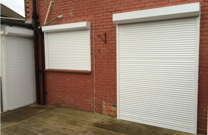 RSG5100 security shutters protecting a residential property in London.