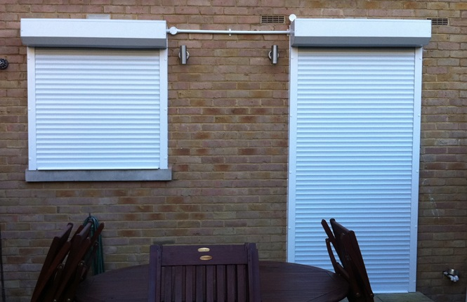 RSG5100 security roller shutters fitted to a private property in Ealing.