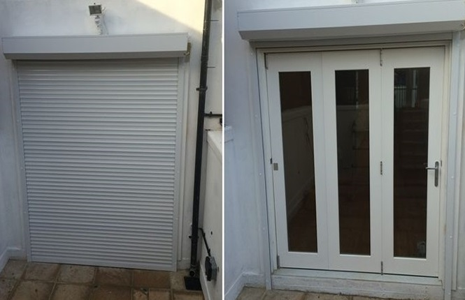 RSG5100 security roller shutter installed to a residence in Harrow.