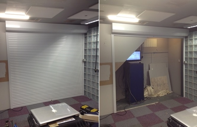 RSG5200 security shutter fitted to an office of a commercial centre in Essex.