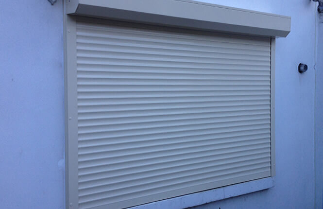RSG5300 foam filled window shutter providing insulation to a window in Hownslow.