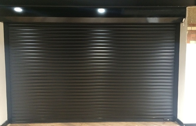 RSG7000 garage door shutter fitted at Kennington Park offices in Central London.
