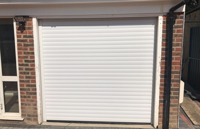 RSG7000 garage door shutter installed to a domestic property in Sutton.