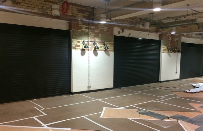 RSG7000 garage door shutters fitted to Kennington Park offices in Central London.