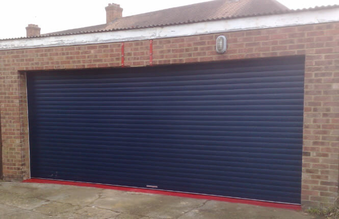 RSG7000 security shutter installed on a garage door in Wandsworth.