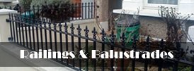 The product page of our railings and balustrades