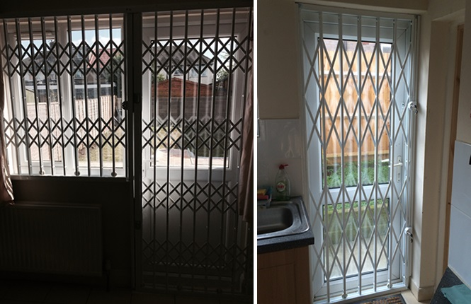 RSG1000 domestic security grilles fitted securing a flat in Harrow, Middlesex.