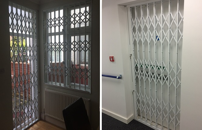 RSG1000 security door grilles fitted in London.