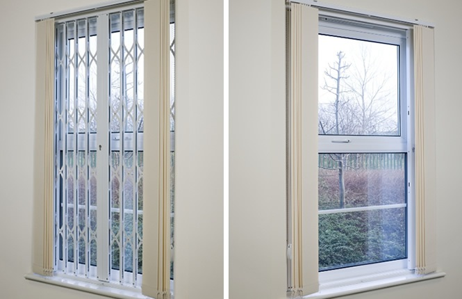 RSG1200 LPS1175 window grilles on offices in Kent.
