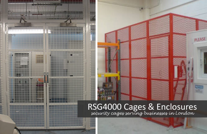 RSG4000 security cages for storage units.