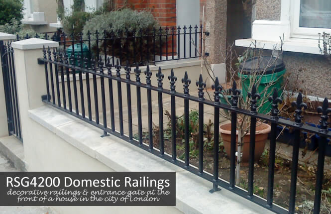 RSG4200 railings on at the front of a house in Mitcham.