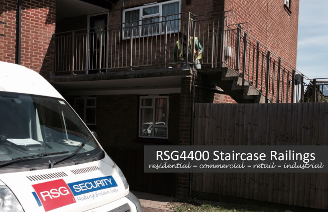 installation of balcony & staircase railings on residential property in Wimbledon.