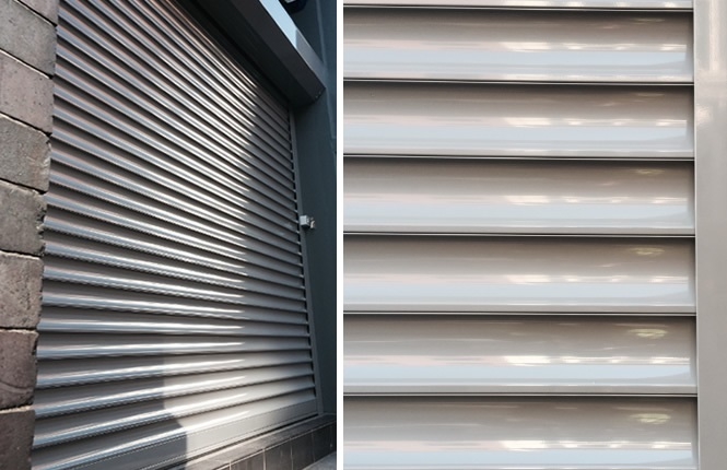 RSG5600 security shutter on the office front of Urban Edge in Shoreditch.
