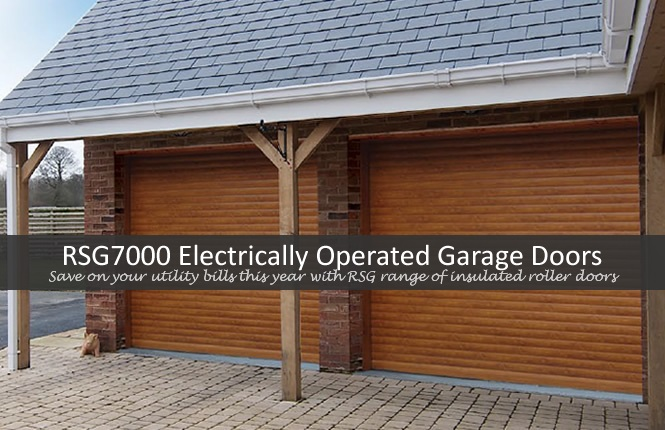 RSG7000 electrically operated roller garage doors in London Islington.
