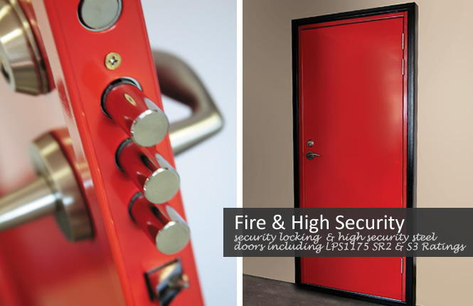 security locking and fire rated high security doors LPS1175 SR2 & SR3.