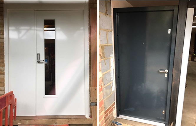 RSG8000 entry doors securing new office unit in Ealing, West London.