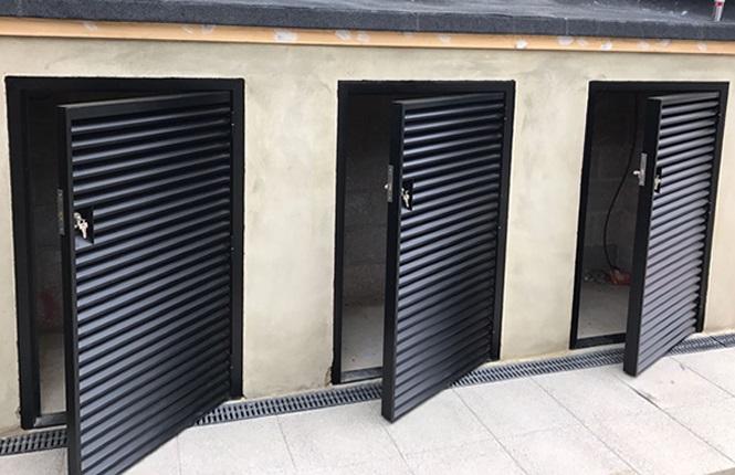 Rsg8200 Louvre Doors Steel Ventilated Doors Fully Louvred Doors