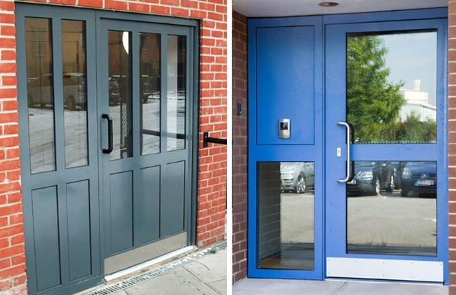 RSG9100 Secured by Design communal entrance security doors.