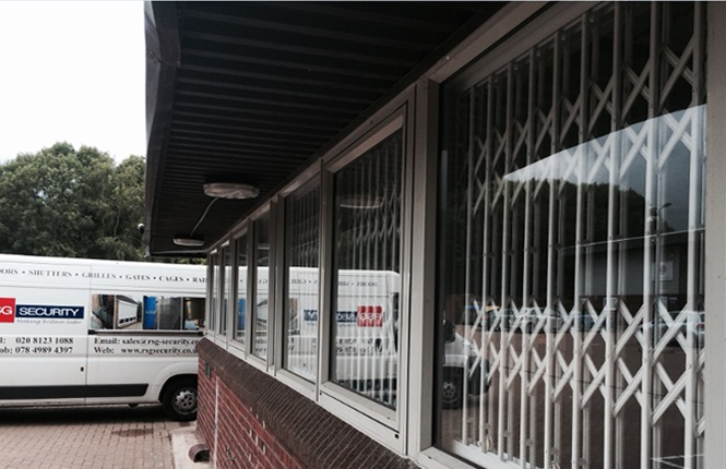 quality security grilles & professional workmaship on commercial project in Surrey.