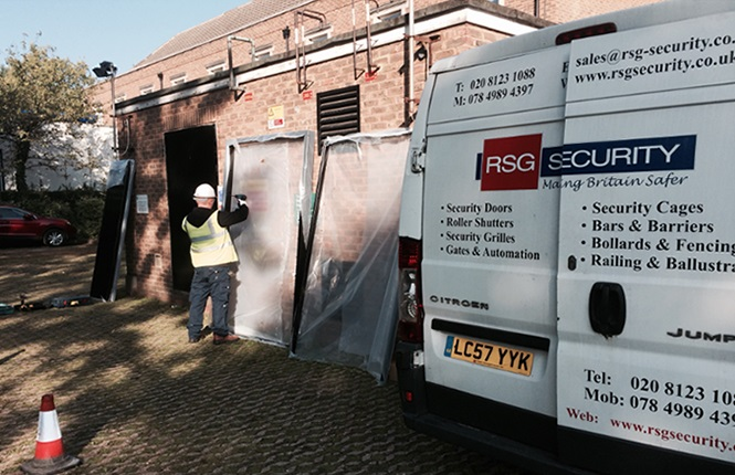 security doors installation by the RSG Security Team.